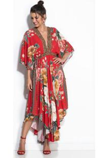 Vestido Floral Sofia Vermelho