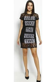 "Vestido Em Renda ""When Was The Last Time""- Preto & Lilã¡SãGua Viva"