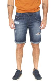 Bermuda Jeans Forum Slim Paul Azul