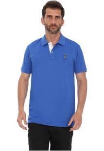 Camisa Polo New York Polo Club Slim - Masculino-Azul Royal
