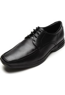 Sapato Social Valecci Pespontos Preto