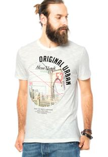 Camiseta Colcci Veludo Off-White