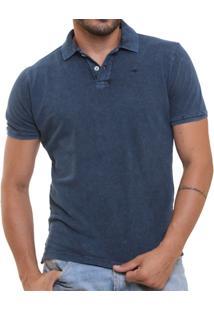 Camisa Polo Stone Wash Marmorizada Dark - Masculino