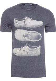 T-Shirt Masculina Especial Silk Tênis - Cinza