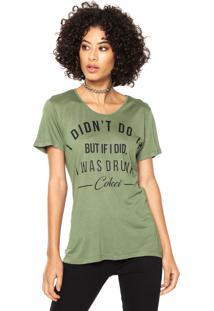 Camiseta Colcci Slim Verde