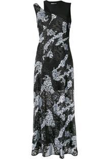Three Floor Vestido Estampado - Preto