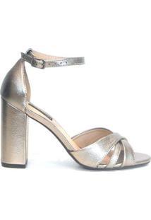 Sandália Emporionaka Metalizada Velho Feminina - Feminino-Prata