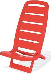 Cadeira Guaruja Polipropileno Cor Vermelho - 21843 - Sun House