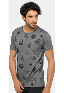 Camiseta Local Bolso Full Print Old School Masculina - Masculino