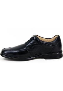 Sapato Social Mafisa Pespontos Preto