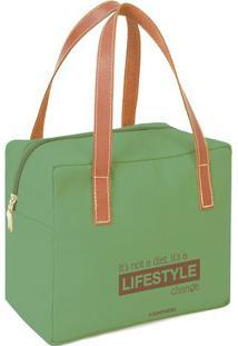 "Bolsa Térmica ""Lifestyle""- Verde & Marrom Claro- 22Xboxmania"