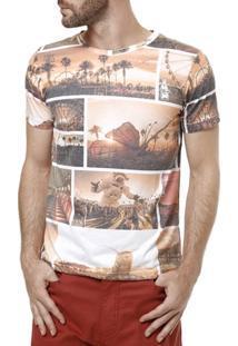 Camiseta Manga Curta Masculina Rock & Soda Laranja - Masculino