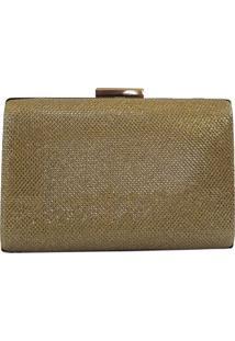 Bolsa Bag Dreams Clutch Para Festa Liz Dourada