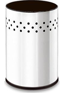 Lixeira Decorline Em Aço Inox 9.4L 20X29Cm 3003201 Brinox