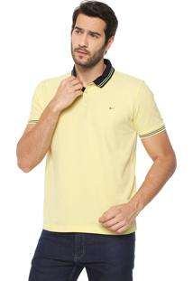 Camisa Polo Aramis Regular Fit Frisos Amarela