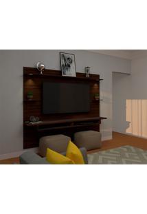 Painel Para Tv Até 60 Polegadas Lais Marrom 160X218 Cm
