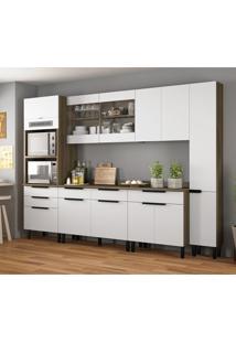 Cozinha Compacta Itamaxi Iii 11 Pt 6 Gv Branca E Castanho