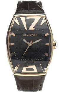 aecba37fdbe ... Relógio De Pulso Chronotech High Fashion - Aço Dourado - Feminino-Prata +Marrom