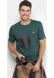 830451db19be2 ir para a loja  + info Camiseta Lacoste Live Tinta Masculina - Masculino- Verde