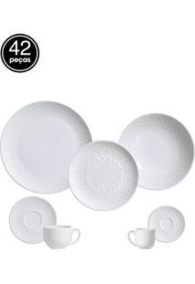 Jogo De Jantar 42 Pçs Agra Branco Porto Brasil
