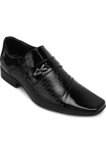 Sapato Social Jota Pe Verniz Masculino - Masculino-Preto