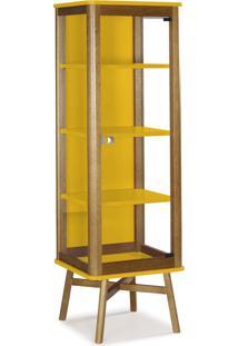 Cristaleira Mali 157,5 Cm 1071 Nogal/Amarelo - Maxima