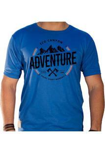 Camiseta Masculina Eco Canyon Enjoy Every Moment Azul