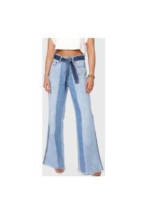 Calça Jeans Carmim Pantalona Chile Azul
