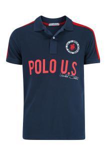 ... Camisa Polo Polo Us 189 - Masculina - Azul Escuro 7b9d7e7c2f736