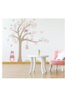 Adesivo De Parede Árvore Coruja Baby Galho Direita