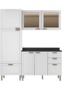 Cozinha Modulada 4 Peças Com Tampo E Nevada 5902Vdtp-Multimóveis - Branco Premium