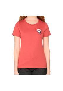 Camiseta Volcom Flowers Vermelho