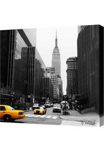 Quadro Impressão Digital Nova York Preto E Branco 30X30Cm Uniart
