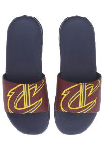 Chinelo Nike Nba Benassi Solarsoft - Slide - Masculino - Azul Esc/Vinho