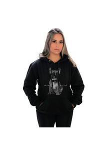 Blusa Moletom Amanda Brazil Pug Preto