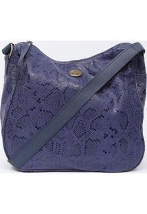 Bolsa Em Couro Texturizada- Roxa & Azul Marinho- 27Xdi Marlys