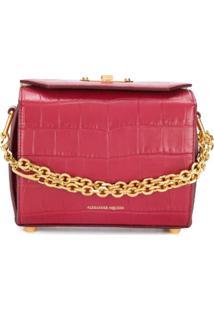 Alexander Mcqueen Bolsa Transversal 'Box Bag 19' - Vermelho