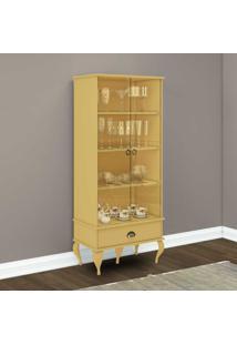 Cristaleira 2 Porta E 1 Gaveta Clássico Cl4007 Amarelo - Móvel Bento