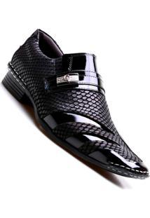 Sapato Social Masculino Calvest Luxo - Masculino-Preto