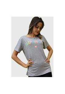 Camiseta Happiness Cinza D Bell