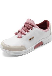 Tênis Kolosh Recortes Branco/Rosa