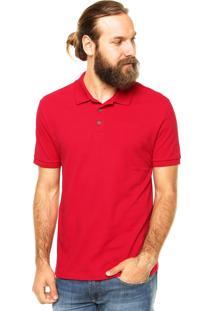 Camisa Polo Calvin Klein Jeans Bordado Vermelha