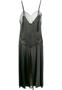 Fendi Vestido Com Recorte De Renda - Verde