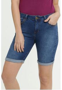 Bermuda Jeans Feminina Barra Dobrada Marisa