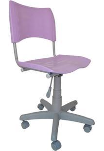 Cadeira Giratória Iso Plástica Base Cinza - Lilás