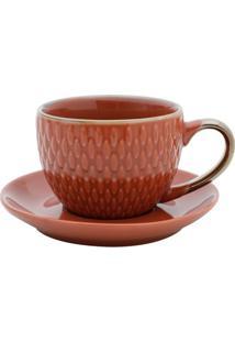 Conjunto Com 4 Xícaras Para Café Snake Em Porcelana 90Ml Rojemac