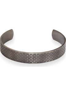 Bracelete Aço 12 Mm Trabalhado Silver Grey - Kanui