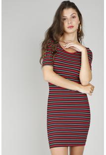 e653cae7c Vestido Listras Vermelho feminino | Gostei e agora?