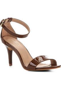 Sandalia Shoestock Salto Alto Naked Feminina - Feminino-Avelã