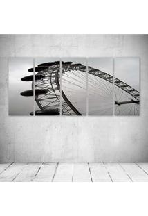 Quadro Decorativo - London Eye - Composto De 5 Quadros